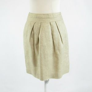 Talbots metallic gold linen blend pencil skirt 2P